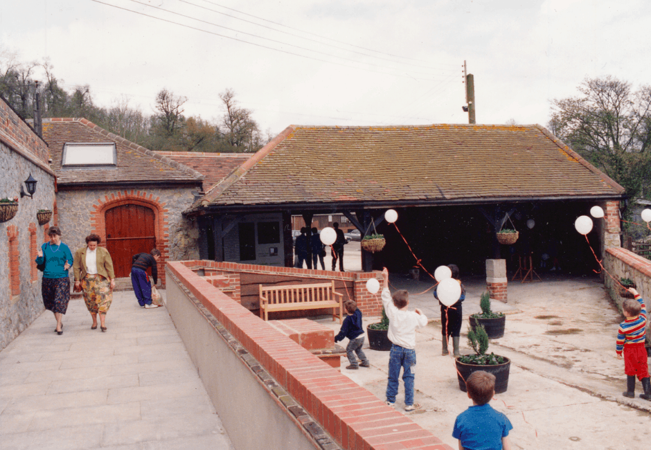 The view of the Farm Shop entrance, when it opened in April 1992.