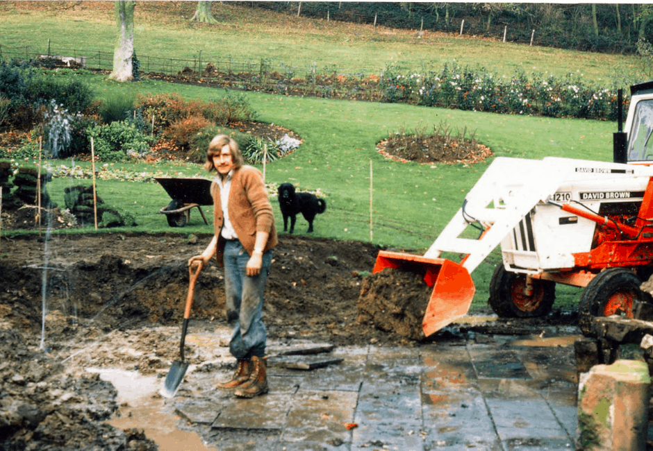 Ian Ford in 1977 having a slight problem with a six inch cast iron water main!