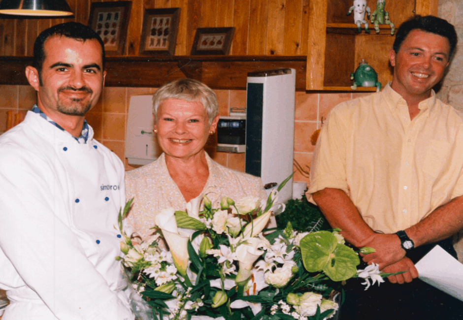 Simon Brown TV Chef, Judi Dench and Anthony Shinner opening the itchen Demonstration Theatre in 1999
