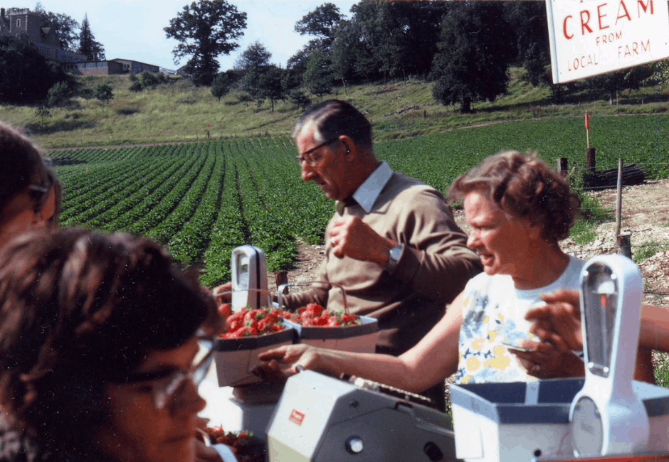 Sid and Lil, who, together with their family, helped with the selling for many years.