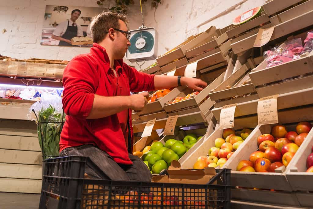 Fresh fruit and vegetables from Priory Farm Shop