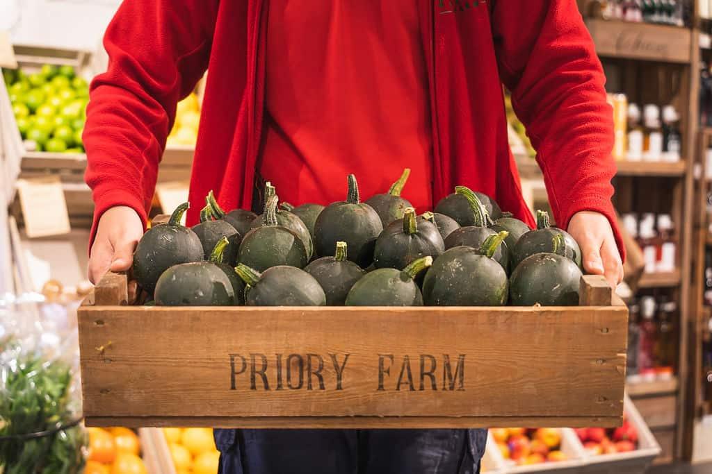 Fresh produce at Priory Farm Shop