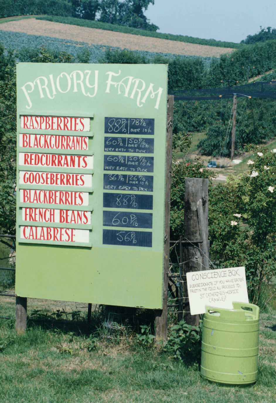 Just a few of the crops we used to grow here at Priory Farm.